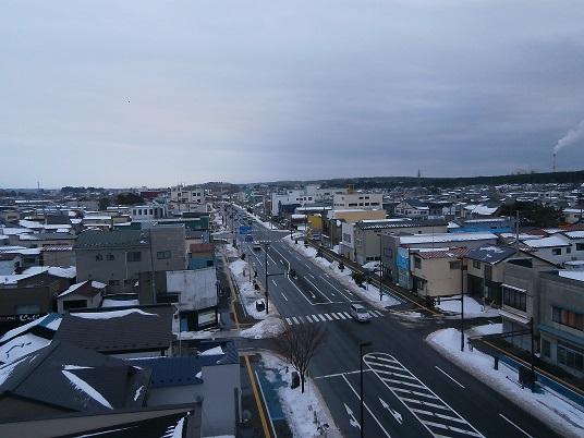 俯瞰冬の街