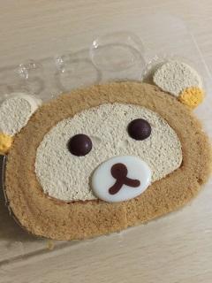 ローソン ウチカフェスイーツ プレミアム 自分でつくるリラックマロールケーキ(プリンクリーム)3