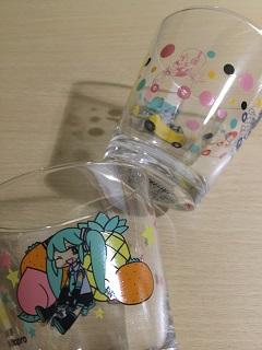 初音ミク グラス&ミックスヨーグルトゼリー2