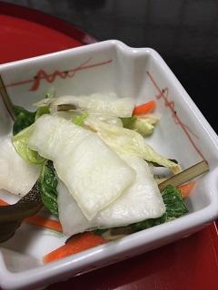 中華飯店 紅蘭 漬物
