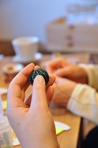 14クリスマスWS鞠刺繍
