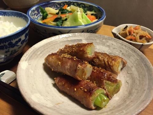 Mar24_長葱の豚肉巻き