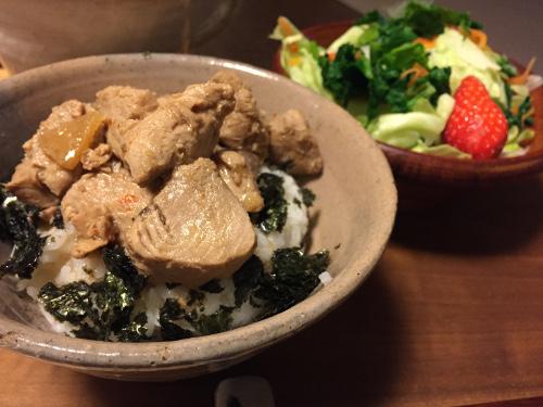 Apr06_まぐろの生姜煮丼