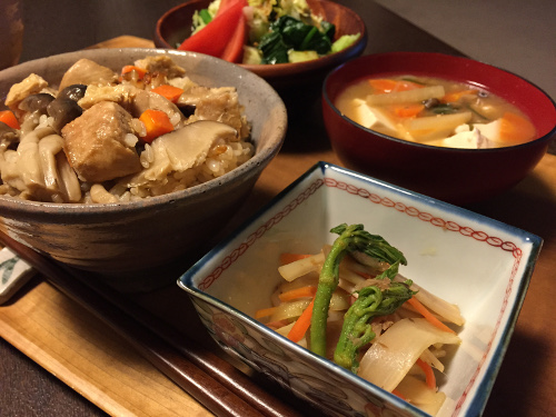Apr14_生姜風味の炊き込みご飯