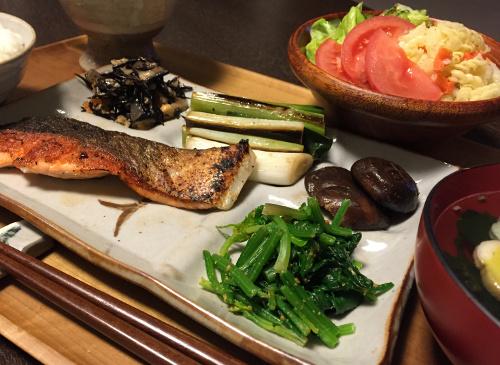Apr20_鮭のカリカリ焼き