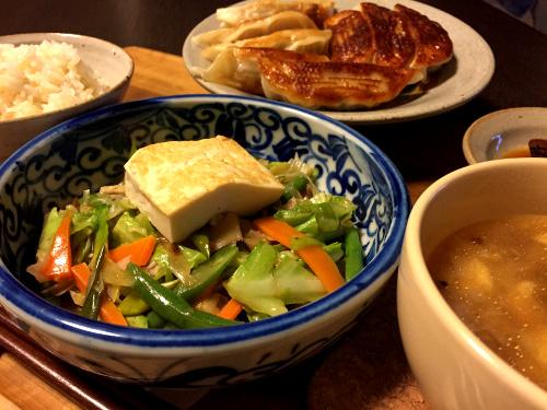 Jun05_野菜と豆腐焼き