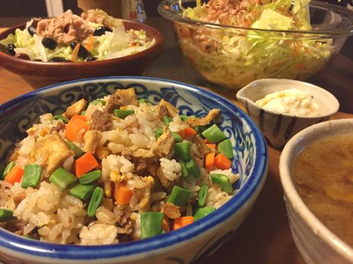 Jun11_挽肉の炒飯