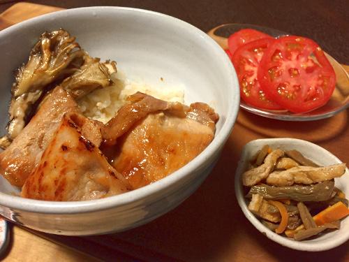 Jun25_豚肉と舞茸丼
