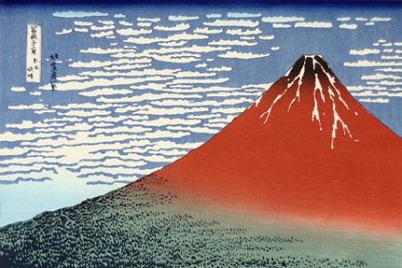 北斎赤富士