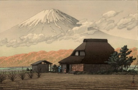 川瀬の鳴沢の富士