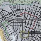 パシフィック銀行強盗バンルートマップ