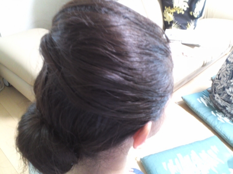 盛り髪&お団子