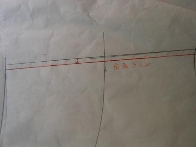 ストライプシャツ型紙 004