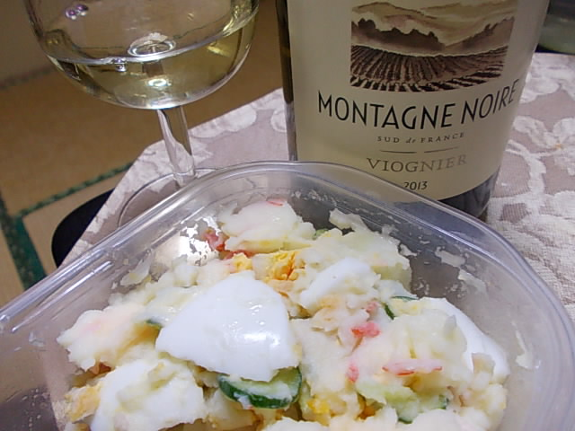 Wine and potato salad 20150208
