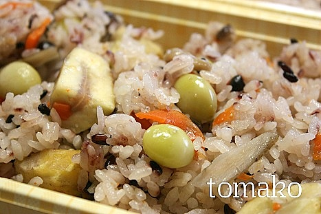 秋の炊き込みご飯♪