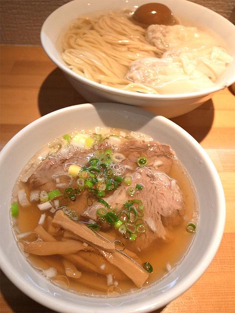150302りきどう-塩鮮蝦雲呑釜揚麺