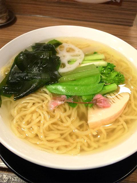 150306さくら-鴨汁釜あげつけ麺「ゆく冬くる春」麺