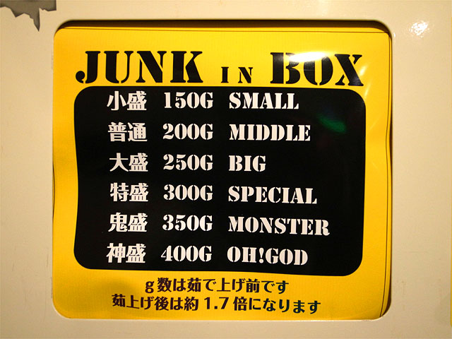 150319JUNK IN BOX-麺量