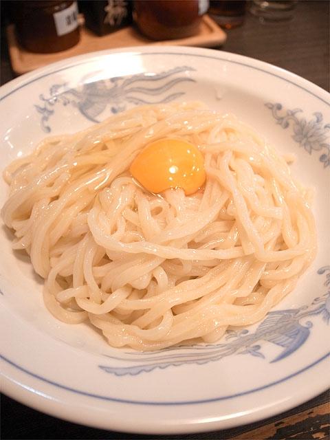 150419照久-つけそば小盛・麺と生卵