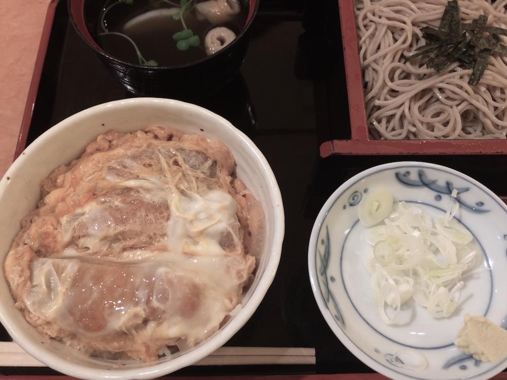 ミニカツ丼ざる蕎麦セット