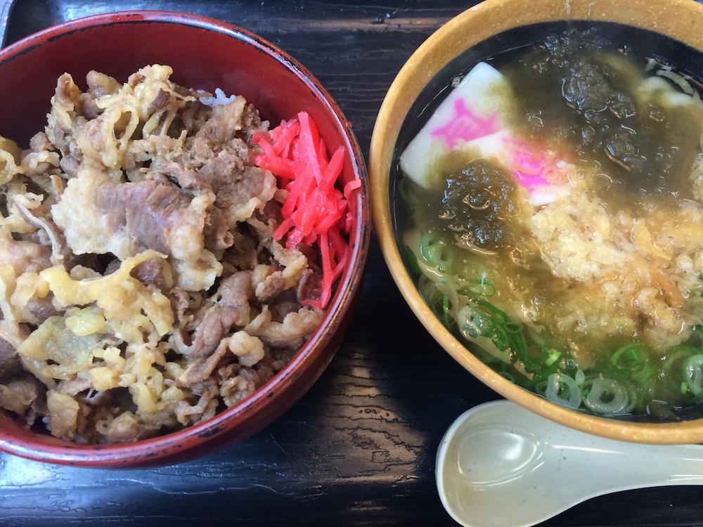 牛丼+ミニうどん