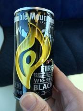 #kirin ファイアダブルマウンテンブラックっての買ってみた。なんか酸っぱい。やっぱりエンブレムを超える缶コーヒーはないな。