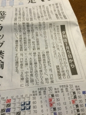 今日は夕刊休みか(´・ω・`) #読売