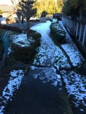 近所の公園はまだ雪が積もってる。まぁ普段から子供が遊んでるのは見かけないので必然。