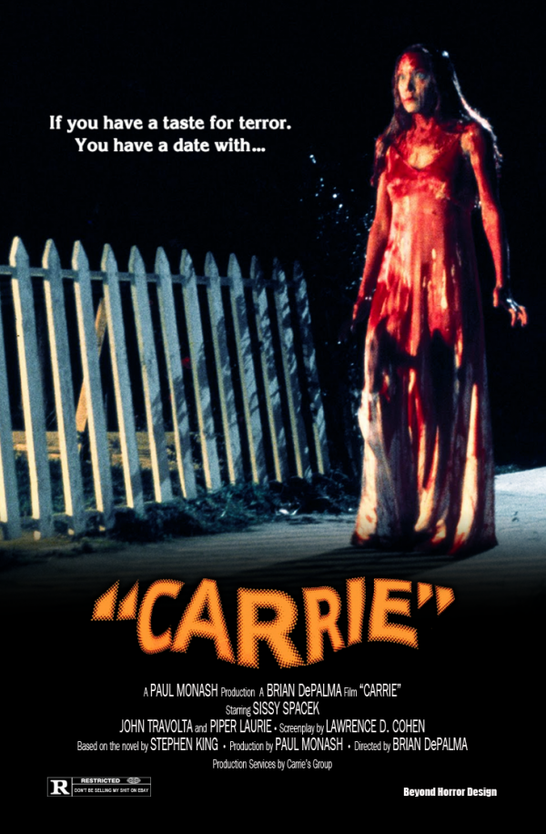 1976 CARRIE 1976 POSTER A BEYOND HORROR DESIGN