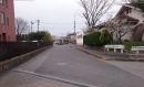 20150315校門の前の道
