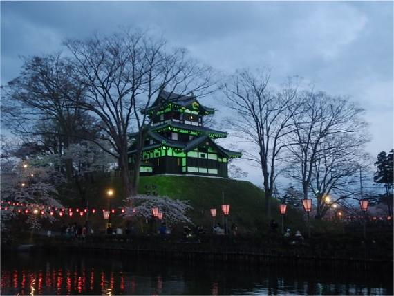 高田城ライトアップ