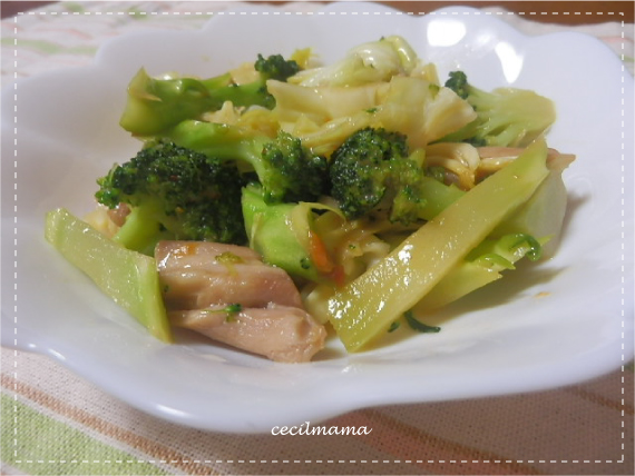 ブロッコリーの炒め物_2