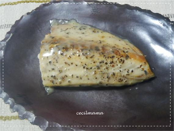 鯖のバジル焼き