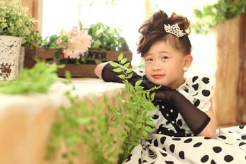 七五三群馬伊勢崎るまちゃん洋装ドレス