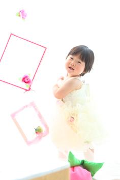 1歳バースデー群馬伊勢崎さつきちゃんドレス