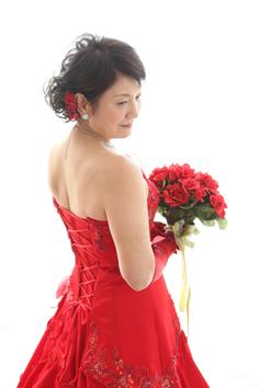 還暦記念群馬伊勢崎t赤ドレス