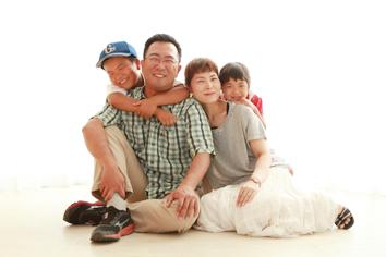 家族写真群馬伊勢崎k自然光ナチュラル
