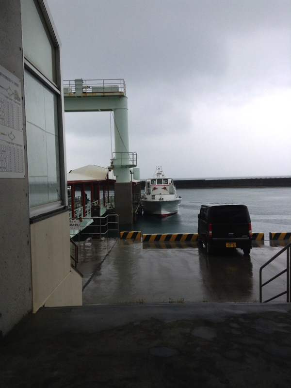 安座真の桟橋