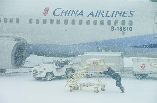 豪雪のいわて花巻空港(1)