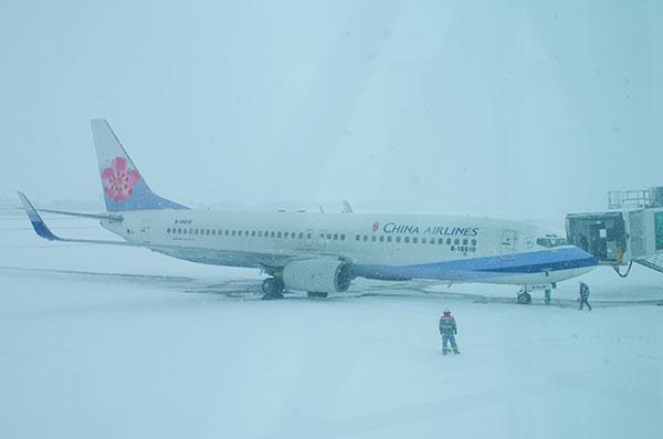 豪雪のいわて花巻空港(2)