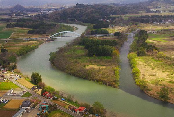 北上川と猿ヶ石川