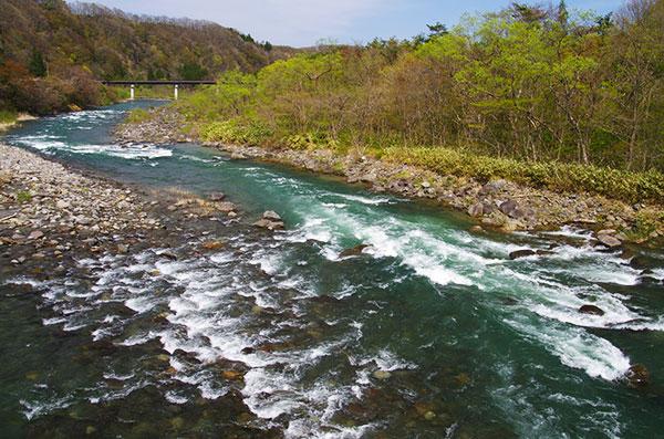 胆沢川の水流