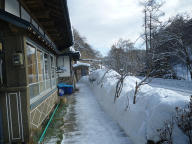 家の前の雪かき