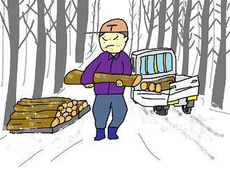 雪道の運搬