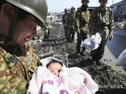 自衛隊と赤ちゃん