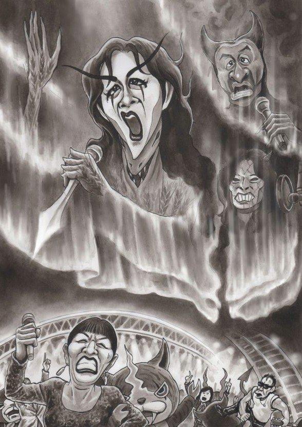 中島みゆき 桑田圭佑 中森明菜 紅白歌合戦の風刺漫画