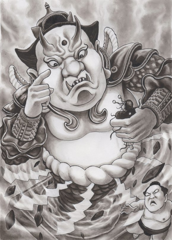 白鵬 稀勢の里 風刺漫画