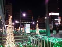 田町駅前のイルミネーション