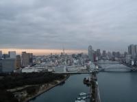 竹芝からの東京スカイツリー方面の遠景