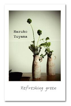 花と緑の器たち_治子